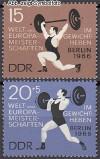 DDR Mi. Nr. 1210 - 1211 ** Gewichtheben