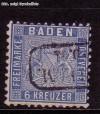 AD Staaten Baden Mi. Nr. 14 o Wappen 6 Kreuzer