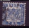 AD Staaten Baden Mi. Nr. 25 a o Wappen 7 Kr