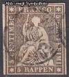 Schweiz Mi. Nr. 13 II Sitzende Helvetia 5 Rp o