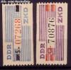DDR Dienstmarken B Verwaltungspost A Mi. Nr. III - IV **