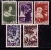Saarland Mi. Nr. 309 - 313 ** Gem�lde 1951