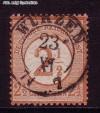 DR Mi. Nr. 29 o braunorange - neuer Wertaufdruck 2 1/2 Gr