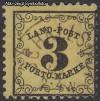 AD Staaten Baden Portomarken Mi. Nr. 2 x o Ziffer im Rankenwerk