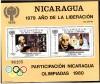 Nicaragua Block 113 ** Teilnahme an Olympische Spiele 1980
