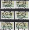 Bund ATM Satz DBP Emblem  Mi.  1.2 hu VS 8 o