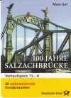 Bund Markenheftchen 52 o mit Heftchenblatt sk Salzlachbr�cke