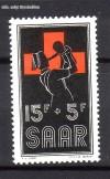Saarland Mi. Nr. 360 ** Rotes Kreuz 1955