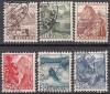 Schweiz Mi. Nr. 500 - 505 Freimarken Landschaften 1948 o