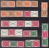 TOP Rarit�t Posthorn 1951 alle Zusammendrucke S 1 - S 12 ** Luxus