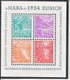 Schweiz Block 1 ** Briefmarkenausstellung Naba