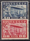 Sowjetunion Mi. Nr. 390 - 391 B o weit gez�hnt Graf Zeppelin