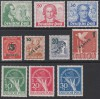 Berlin Mi. Nr. 61 - 70 ** Luxus Goethe, Gr�n, W�hrungsgesch�digtigte