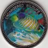 Palau 1$ Farbm�nze 2008  Gestreifter Tropenfisch