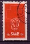 Saarland Mi. Nr. 318 o Woche d. Roten Kreuzes