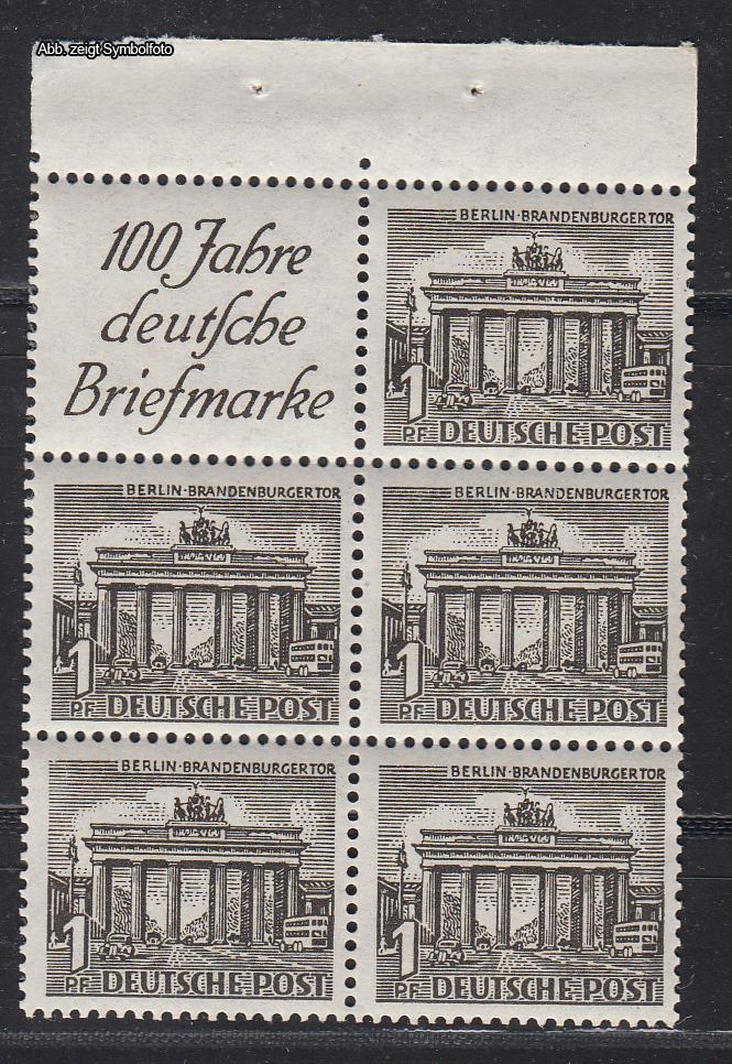 briefmarken berlin markenheftchenblatt michel nr 4 postfrisch g nstig kaufen im briefmarken. Black Bedroom Furniture Sets. Home Design Ideas