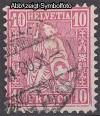 Schweiz Mi. Nr. 30 Sitzende Helvetia 10 C o