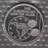 Bundesrepublik 5 DM M�nze in Noppenfolie stg 1985 Jahr der Musik
