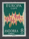 Andorra Spanische Post Mi. Nr. 71 ** Europa 1972