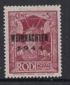 Bes. II. WK Feldpostmarken Mi. Nr. 12 V ** gepr�ft Insel Rhodos