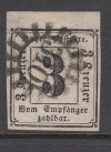 AD Bayern Portomarke Mi. Nr. 1 o geprüft vollrandig