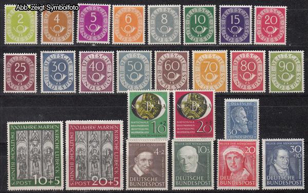 Briefmarken Bund 1951 Jahrgang Postfrisch 1951 Bund Briefmarken