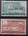 Franz. Zone W�rttemberg Mi. Nr. 49 - 50 o deutsche Briefmarken