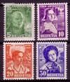 Schweiz Mi. Nr. 306 - 309 Pro Juventute 1936 **