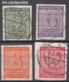 SBZ Mi. Nr. 116 - 119 x o Freimarken: Ziffern I