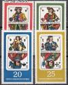 DDR Mi. Nr. 1298 - 1301 ** Spielkarten
