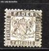 AD Staaten Baden Mi. Nr. 17 a o Wappen 1 Kreuzer