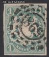 AD Staaten Bayern Mi. Nr. 14 c o Staatswappen 1 Kr