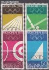 Bund Mi. Nr. 587 - 590 o Olympische Sommerspiele