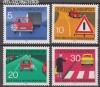 Bund Mi. Nr. 670 - 673 ** Regeln Straßenverkehr