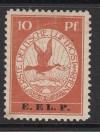 DR Mi. Nr. V ** E.EL.P Flugpostmarke mit Aufdruck