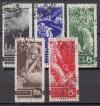 Sowjetunion Mi. Nr. 494 - 498 o  JT Ausbruch des  Ersten Weltkrieges