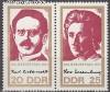 DDR Mi. Nr. 1650 - 1651 ** Luxemburg / Liebknecht