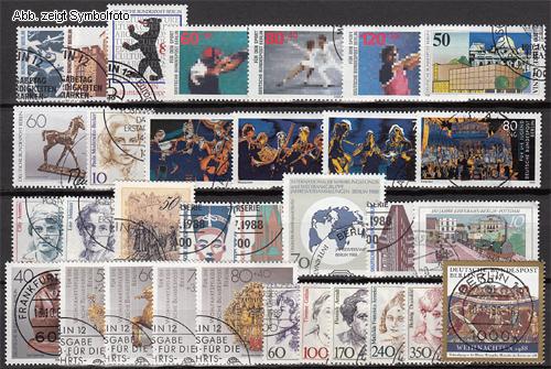 briefmarken berlin 1988 jahrgang gestempelt 1988 berlin briefmarken jahrgang gestempelt. Black Bedroom Furniture Sets. Home Design Ideas