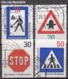 Bund Mi. Nr. 665 - 668 o Regeln Stra�enverkehr