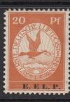 DR Mi. Nr. VI ** E.EL.P Flugpostmarke mit Aufdruck