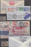 DR Mi. Nr. 496- 98 o Chicagofahrt  dabei 1 u. 2 M auf Zeppelinbrief