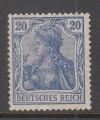 DR geprüfte Farbabart Mi. Nr. 87 II c **  Germania 20 Pf