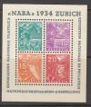 Schweiz Block 1 ** Briefmarkenausstellung Naba Super Sonderpreis
