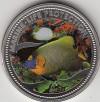 Palau 1 Dollar Farbmünze 2001 Butterflyfisch