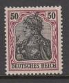 DR geprüfte Farbabart Mi. Nr. 91 II y **  Germania 50 Pf