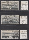 Sowjetunion Mi. Nr. 406 o A, B, C, Luftschifbau alle 3 Zähnungsarten