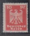 DR geprüfte Abart Mi. Nr. 357 y ** 10 Pf. Reichsadler liegendes Wz