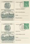 Berlin Ganzsache 2 x P 22  Währungsgeschädigte ( K 75 )