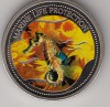 Palau 1$ Farbmünze 2005  Seepferdchen