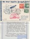 Niederländische Post Polarfahrt 1931 bis Eisbrecher Malyguin Karte